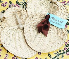 Lot of 100  Mini Palm Woven Fan  Great for by whitetulipboutique, $78.00