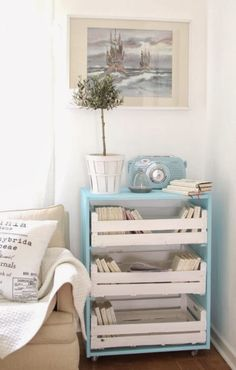 creative ideas for living: Bednicky - Crates