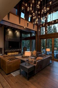 Rustic Modern Home Design Lake Tahoe Getaway Features A Modern Barn Aesthetic Family Concept Home Design, Luxury Interior Design, Luxury Home Decor, Modern House Design, Interior Design Living Room, Luxury Homes, Design Ideas, Interior Paint, Room Interior
