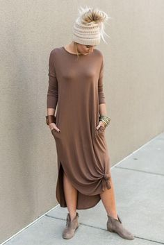 801533c014 Eternal Sunshine Tee Maxi Dress - Ash Gray