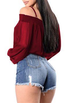 Women's Clothing, Tops & Tees, Blouses & Button-Down Shirts, Women Off Shoulder Long Sleeve Chiffon Blouse Crop Top Shirts - Black - & Button-Down Shirts Black Chiffon Blouse, Sheer Chiffon, Crop Top Shirts, Crop Tops, Off Shoulder Blouse, Bridesmaid Jewelry, Jewelry Sets, Clothes For Women, Long Sleeve