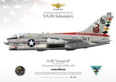 "UNITED STATES NAVY ATTACK SQUADRON EIGHT SIX (VA-86) ""Sidewinders""USS America (CVA 66), CVW-6. 1973"