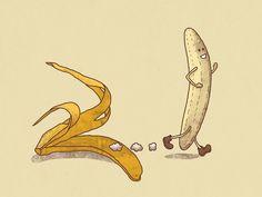 Streaker by Terry Fan #Illustration #Banana #Streaker #Terry_Fan