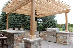 Gallery – Grant & Power Landscaping Outdoor Life, Pergola, Landscaping, Backyard, Outdoor Structures, Healthy Weight, Gallery, Bar, Kitchen