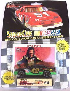 LIONEL NASCAR STOCK CAR RACING KYLE PETTY 42 CAR COLLECTORS CARD DISPLAY STAND #LionelNASCAR #Pontiac  $5.00#Nascar Stock Car#Racing Collectibles#Winston Cup Racing