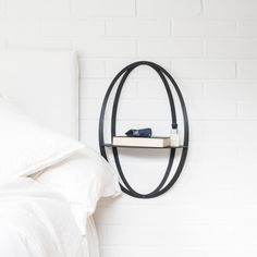 Use the Halo shelf as a nightstand beside your bed. It is perfect for fitting a nightstand into small spaces 💫 Be Perfect, Nightstand, Halo, Small Spaces, Shelves, Future, Bed, Black, Instagram