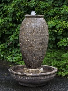 Decorative Outdoor Water Feature: Campania International: Thassos Fountain in Angkor Brown