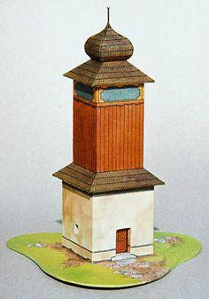 Belfry from Orava Free Building Paper Model Download…