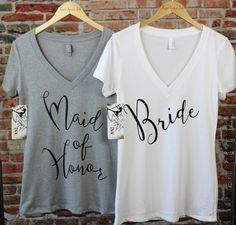 Bride Shirt. Bridal Shower Gift. Maid Of Honor by FreeSpiritInk