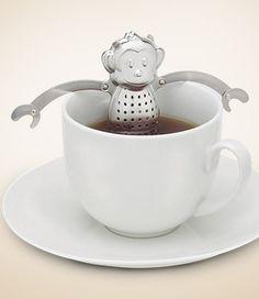 Great gift for tea drinkers! Monkey sitting in a hot bath.