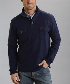 e79fab4f9284 Look at this  zulilyfind! Stetson Navy French Terry Pullover - Men by  Stetson