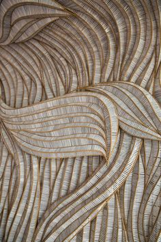 Textural, movement in brown and white