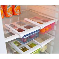 "Universe of goods - Buy ""Home Refrigerator Storage box Slide Fridge Freezer Organizer Refrigerator Storage Rack Shelf Drawer for only 6 USD. Fridge Drawers, Refrigerator Organization, Kitchen Refrigerator, Refrigerator Freezer, Freezer Organization, Kitchen Organization, Kitchen Storage, Organization Ideas, Storage Rack"
