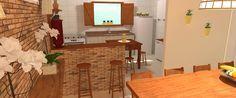bancada de cozinha americana tijolo rustico - Pesquisa Google