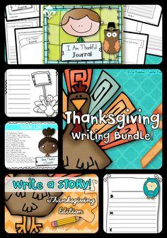 Thanksgiving Writing BUNDLE: Gratitude Journal Interactive
