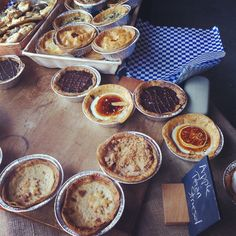 Various pies from Pie Corps at Stone Barns