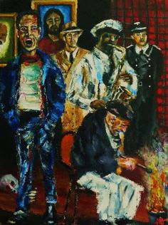 "DAMN Painting > Degenerate Art Museum Nationale, Oil on Canvas 24x18"", © Copyright 2011 Alan Derwin"