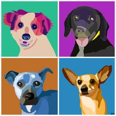 GROVER, JASPER, RUSTY  ---- Buy Amazing Pup Art And Help Dogs In Need (Some of the art is based of of real dogs that are up for adoption!)