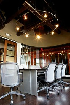 Providence Business suite: monorail lighting in conference room