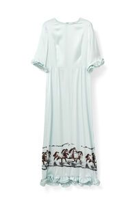 Jolly Silk Dress, Sterling Blue