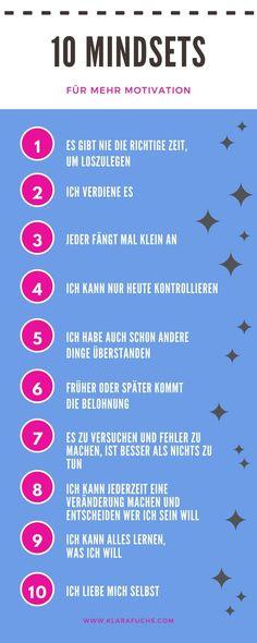 10 Mindsets, die für mehr Motivation sorgen - Klara Fuchs