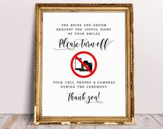 Please No Phones And Cameras During Ceremony, Unplugged Ceremony Sign, Unplugged Sign, Wedding Signs, No Photos Ceremony Sign, Wedding Print Ceremony Signs, Reception Signs, Wedding Hashtag Sign, Wedding Signs, Spelling And Grammar, Wedding Prints, Font Names, Guest Book Sign, Signature Cocktail