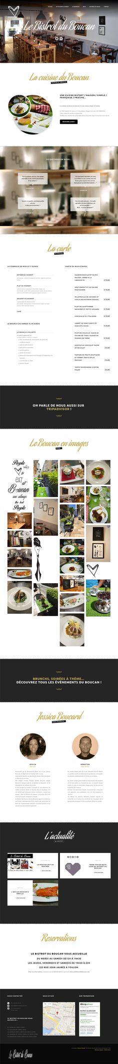 Stratégie sociale, conception d'un site web et identité graphique, le Bistrot du Boucan nous fait confiance et nous, on adore y manger ! À retenir : une cuisine maison, des produits frais et un site internet qui colle à l'image de ce restaurant toulonnais. www.lebistrotduboucan.com #identitevisuelle #wordpress #marketing