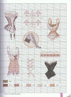 point de croix femme corset , cross stitch woman