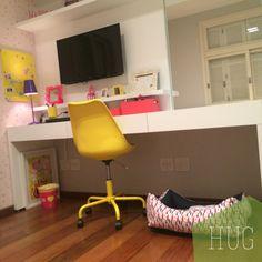 Dormitório Infantil. Amarelo e rosa! Projeto Hug Arquitetura  www.hugarquitetura.com.br