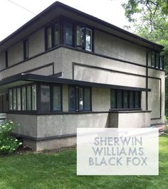 Painting Our American System Built Home Frank Lloyd Wright Sherwin Williams Black Fox Exterior Trim