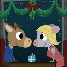 Mouse and Deer - Present, A winter Love story of a mouse and deer.