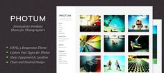 Free Responsive WordPress Theme for Photographers Photography Themes, Amazing Photography, Portfolio Site, Wordpress Theme, Things To Come, Graphic Design, Image, Photographers, Themes Free
