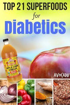 21 Superfoods for Diabetics http://avocadu.com/top-21-superfoods-diabetics/ #diabetes