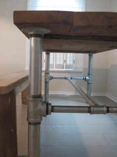DIY Industrial Pipe Table Base Frugal Farmhouse | Apartment Therapy