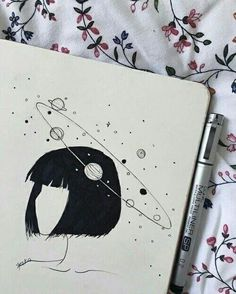 pencil drawings - Uploaded by ️️️× Find images and videos about art, drawing and girl on We Heart It the app to get lost in what you love Inspiration Art, Art Inspo, Cute Drawings, Drawing Sketches, Pencil Drawings, Drawing Ideas, Easy Drawing Pictures, Drawings About Love, Drawings Of Girls
