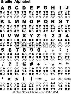 braille, alfabet - csp13176854