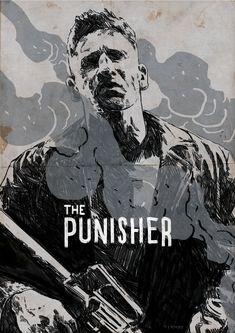 The Punisher - Netflix - fan art - minimalism The Punisher, Punisher Comics, Marvel Dc Comics, Ms Marvel, Captain Marvel, Punisher Wallpaper, Marvel Wallpaper, Punisher Netflix, Frank Castle Punisher