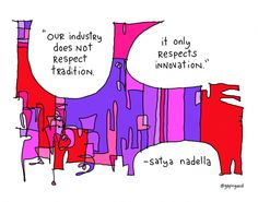 Satya Nadella | Gapingvoid Art