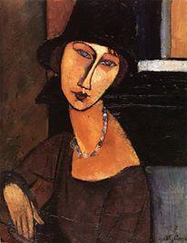 Jeanne-Hebuterne  (Amedeo Modigliani 1917 Paris, France)