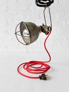 stilmöbel industriallampe kebel rot