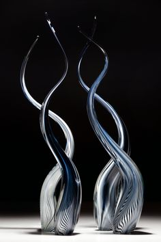 Infinity Art Glass ~ Scott Hartley ~ Threaded Reeds   www.infinityartglass.com