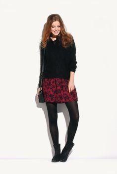 Every fashion-follower needs a floral skirt this winter!
