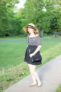 Off the Shoulder striped dress-3