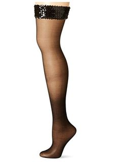18feb692469 Hosiery   Socks · MUSIC LEGS - Women s Sequin Top Thigh High - Black - One  Size Fits Most