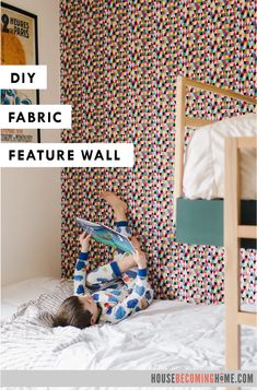 DIY Fabric Feature Wall - House Becoming Home