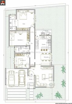 Model House Plan, Dream House Plans, Small House Plans, House Floor Plans, House Construction Plan, Villa Plan, Floor Plan Layout, Contemporary House Plans, Architectural Design House Plans