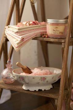 Sabon Rose Tea Body Scrub - http://www.sabonnyc.com/product/bath-shower/body-scrub/body-scrub-149.html