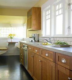 Praktische und schmale Küchen Interieurs - Essecke