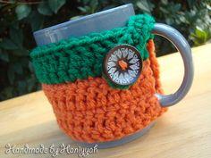 Crochet Mug Cozy  Mug Warmer  Mug Hug  handmade   by HaniyyaBazaar, $5.00