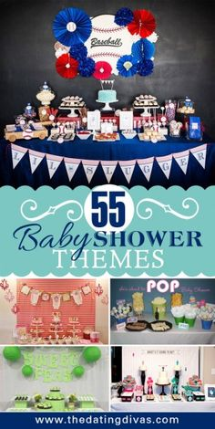 Looking for a great theme to a baby shower? Here you will find 55 baby shower themes that are full of creativity! Shower Bebe, Baby Shower Fun, Baby Shower Gender Reveal, Shower Party, Baby Shower Parties, Baby Shower Themes, Baby Shower Decorations, Baby Shower Gifts, Shower Ideas